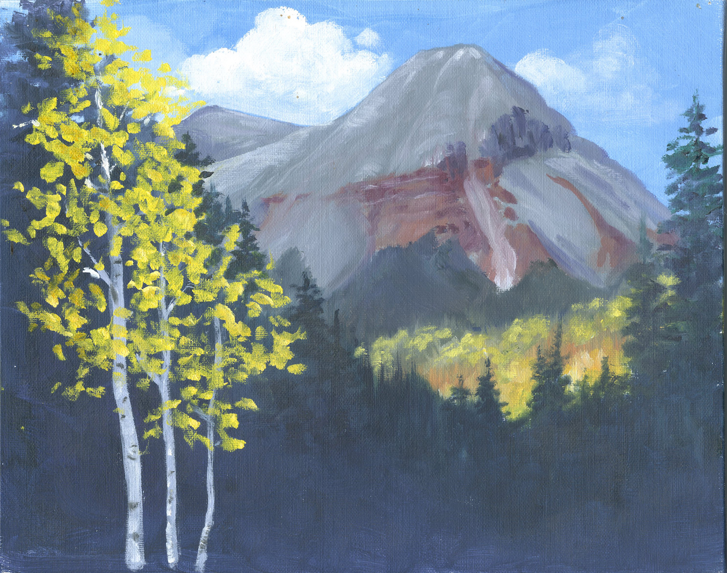 Engineer Mountain, Colorado by artist Eileen Fjerstad